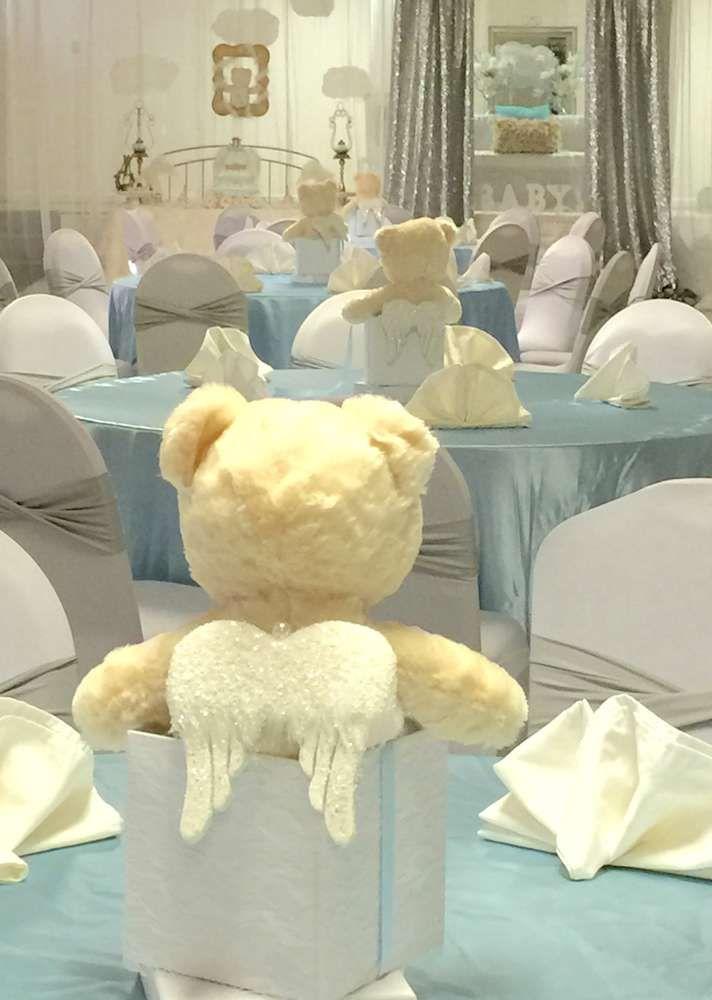 Angel / Heaven Teddy Bears Baby Shower Party Ideas   Photo 6 Of 38