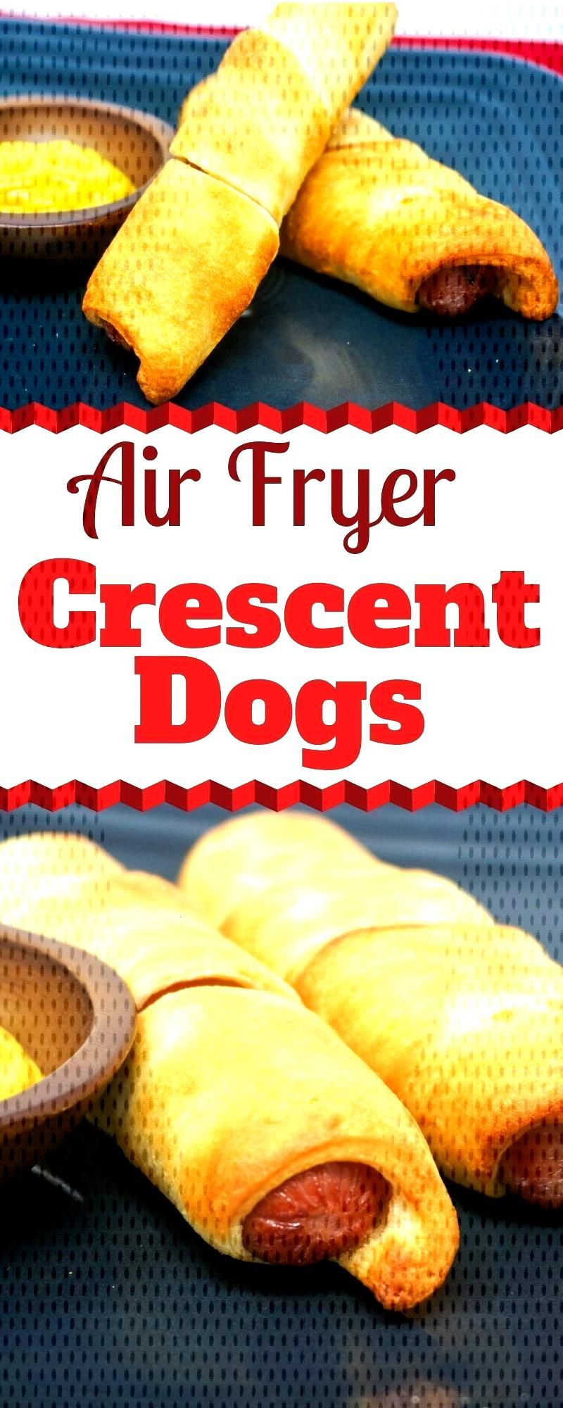 Air Fryer Crescent Dogs are a fun little snack or quick meal that are a detour from your normal Hot
