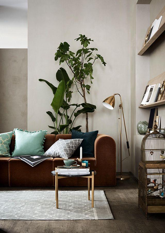 Inspiratieboost: een warme woonkamer met aardse kleuren - Kleuren ...