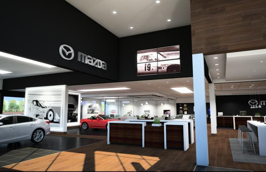 From Cars To Buildings Mazda Infuses Dealerships With Upscale