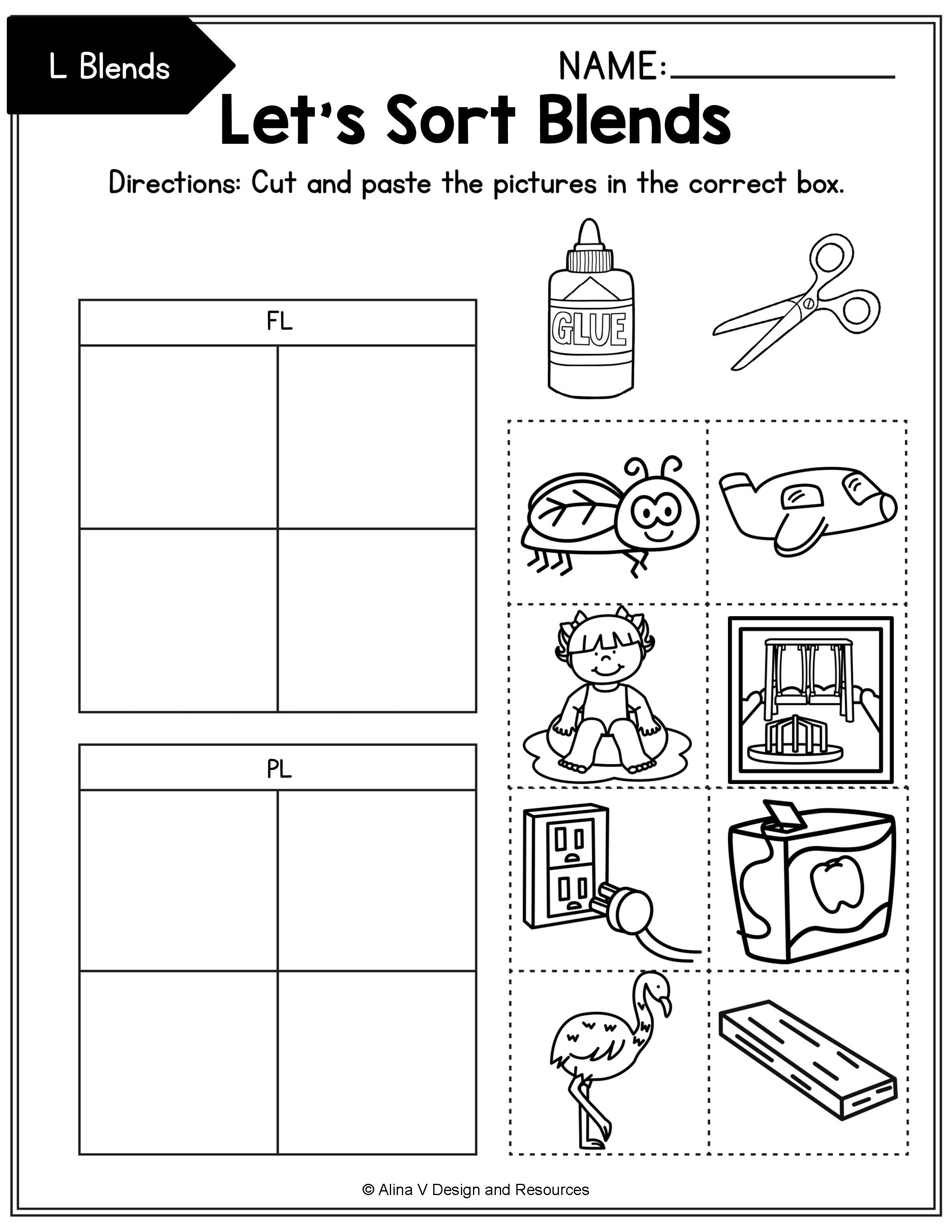 Blends Worksheets Bundle