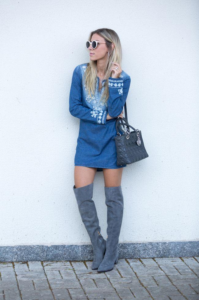 Vestidos jeans para invierno