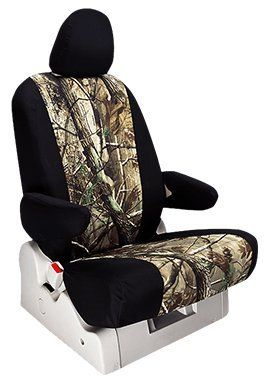 Custom Fit Nissan Rogue Seat Covers 20142016 Rear Set In Realtree Black W AP Inserts Print 4060 Split Back And Bottom Folddown Center Arm 3