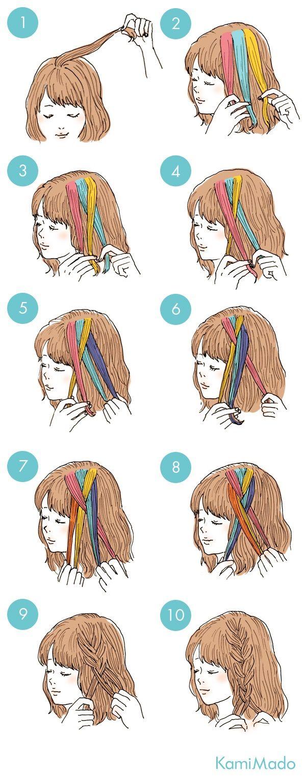 Treccia interna hair pinterest hair style easy hairstyles and