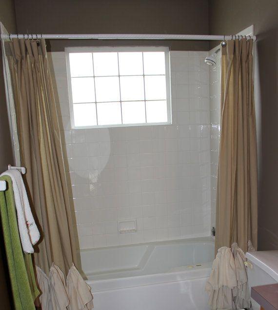Shower Curtain Kami Wave Split Shower Curtain Shabby Chic