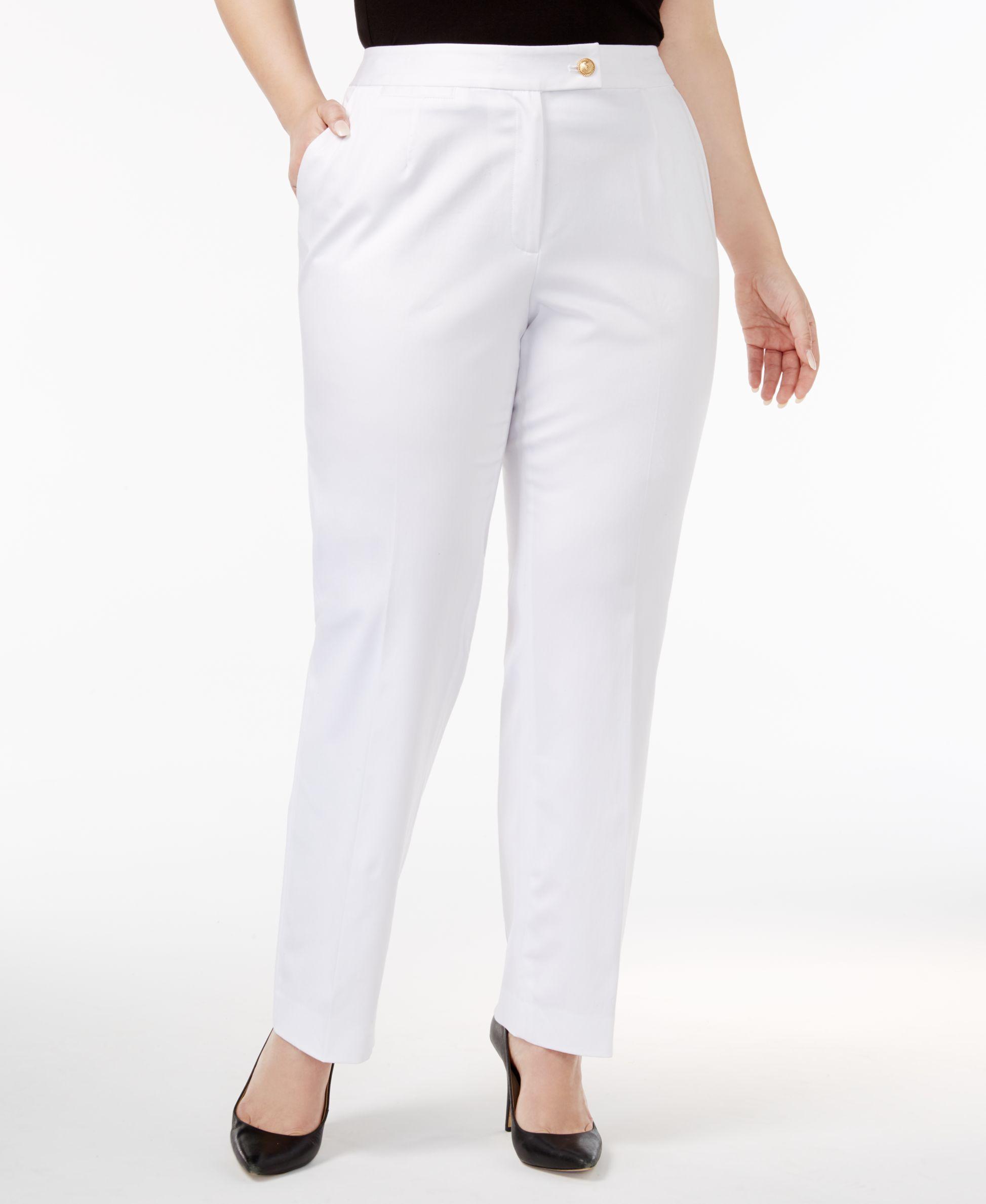 7c7bb9ccfd374 Tahari Asl Plus Size Slim Straight-Leg Pants   Products   Straight ...