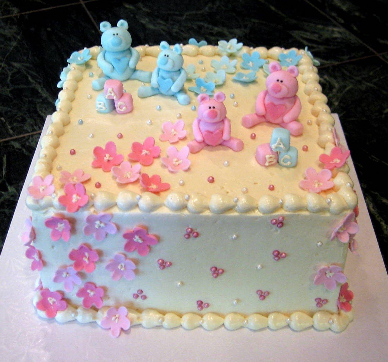 Gender Neutral Baby Shower Sheet Cakes