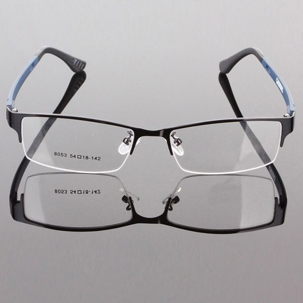 a8ab858b7b04 Click to Buy << Durable Mens Eyewear Metal Frame Half Rim Designer Clear  Lens Eye Glasses Frame #Affiliate. >>