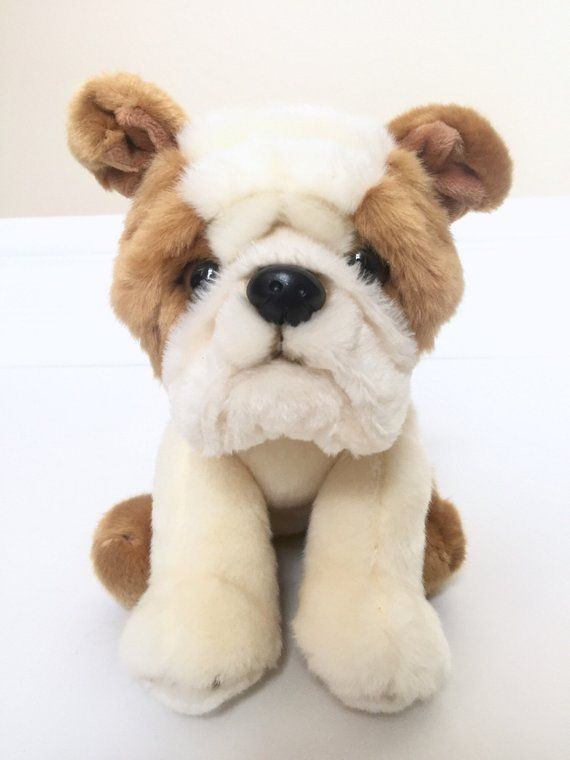 Bulldog Stuffed Animal Dog Bulldog Plushie Dog Bulldog Plush