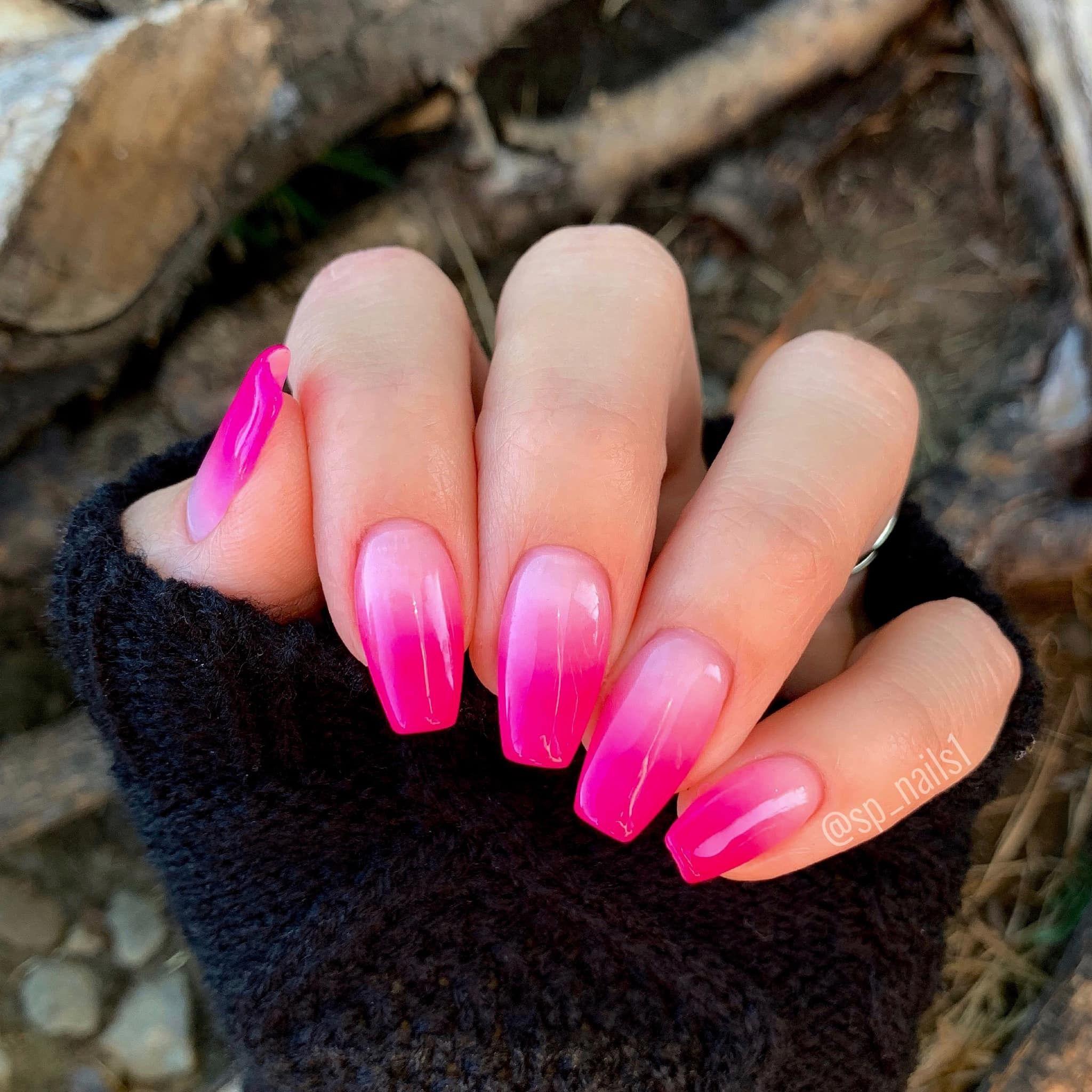 Dip Powder Nails Revel Nail Dip Powder Pink Ombre Nails Ombre Nails Glitter Hot Pink Nails