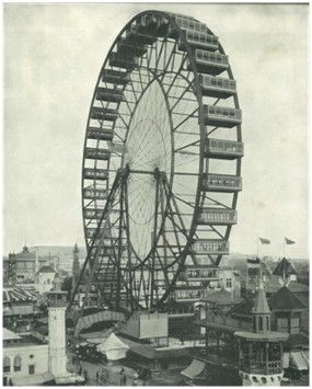 ferris wheel built for the 1893 world 39 s fair in chicago the cars were 24 feet long 13 feet. Black Bedroom Furniture Sets. Home Design Ideas