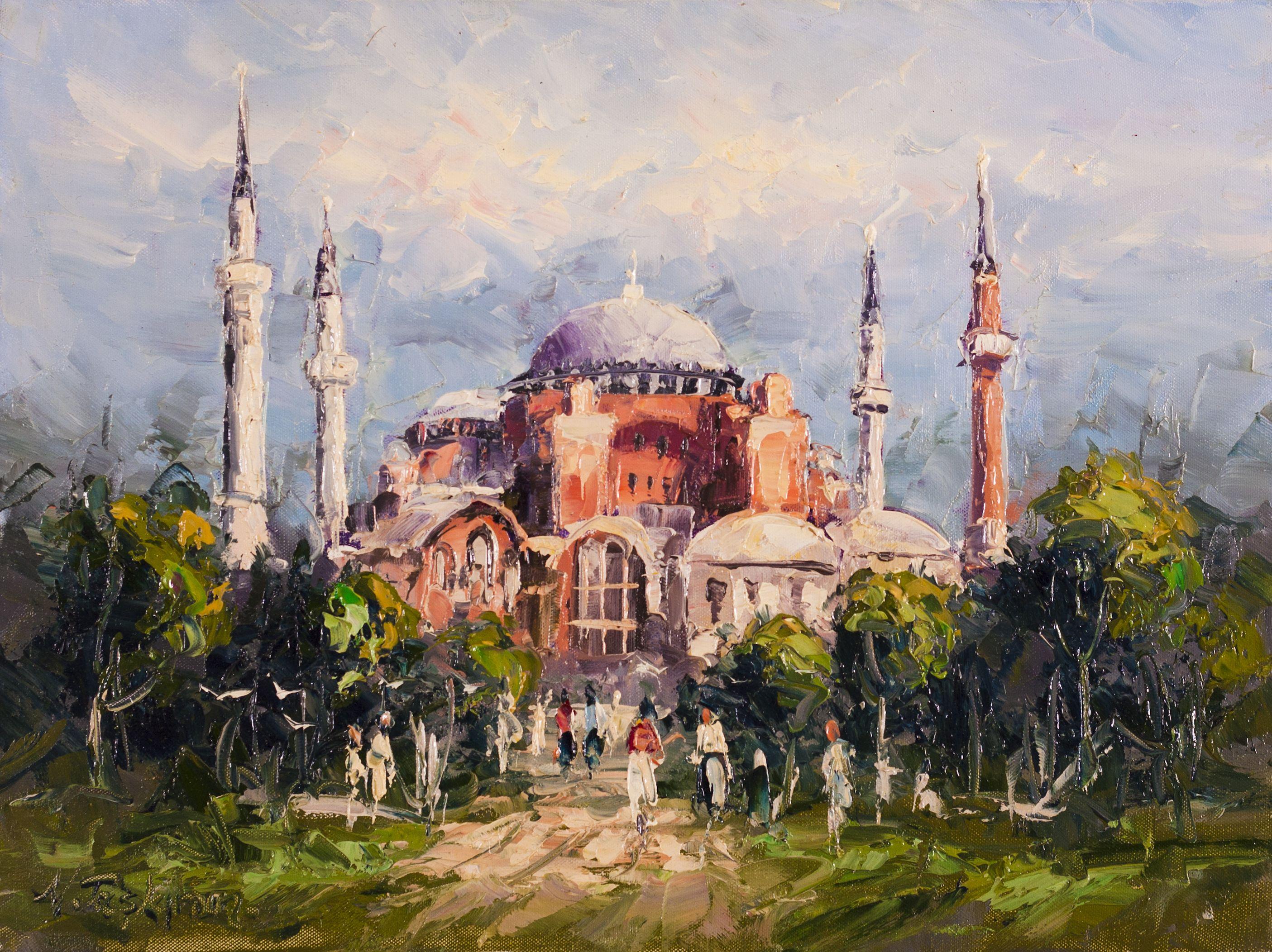 Ayasofya Nihat Taskiran Simurg Resim Ve Cerceve Hagia Sophia Resimler Resim