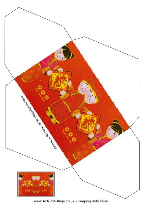 A Printable Chinese New Year Children S Lucky Money Envelop Pocket Template New Year Printables Money Envelopes Chinese New Year