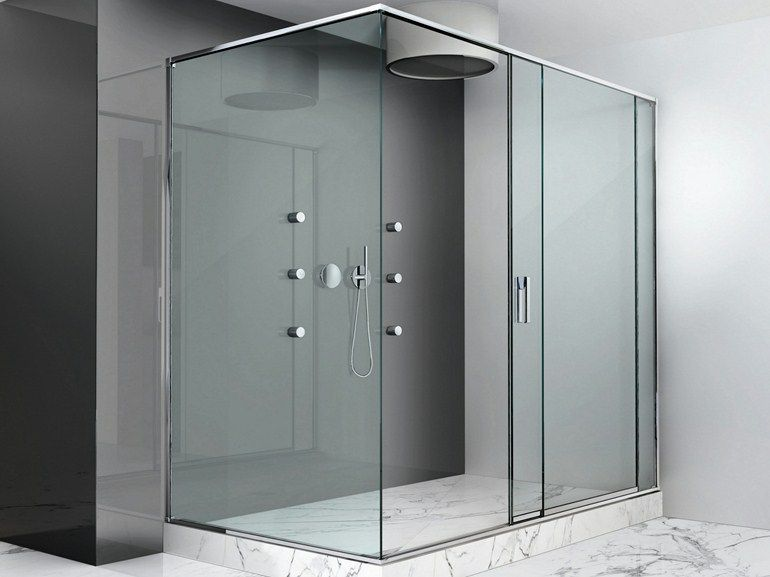Cabina de ducha con puertas correderas slide by makro - Cabina ducha rectangular ...