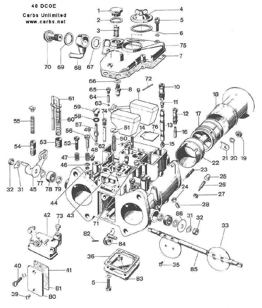 small resolution of weber 40 dcoe 151 diagram