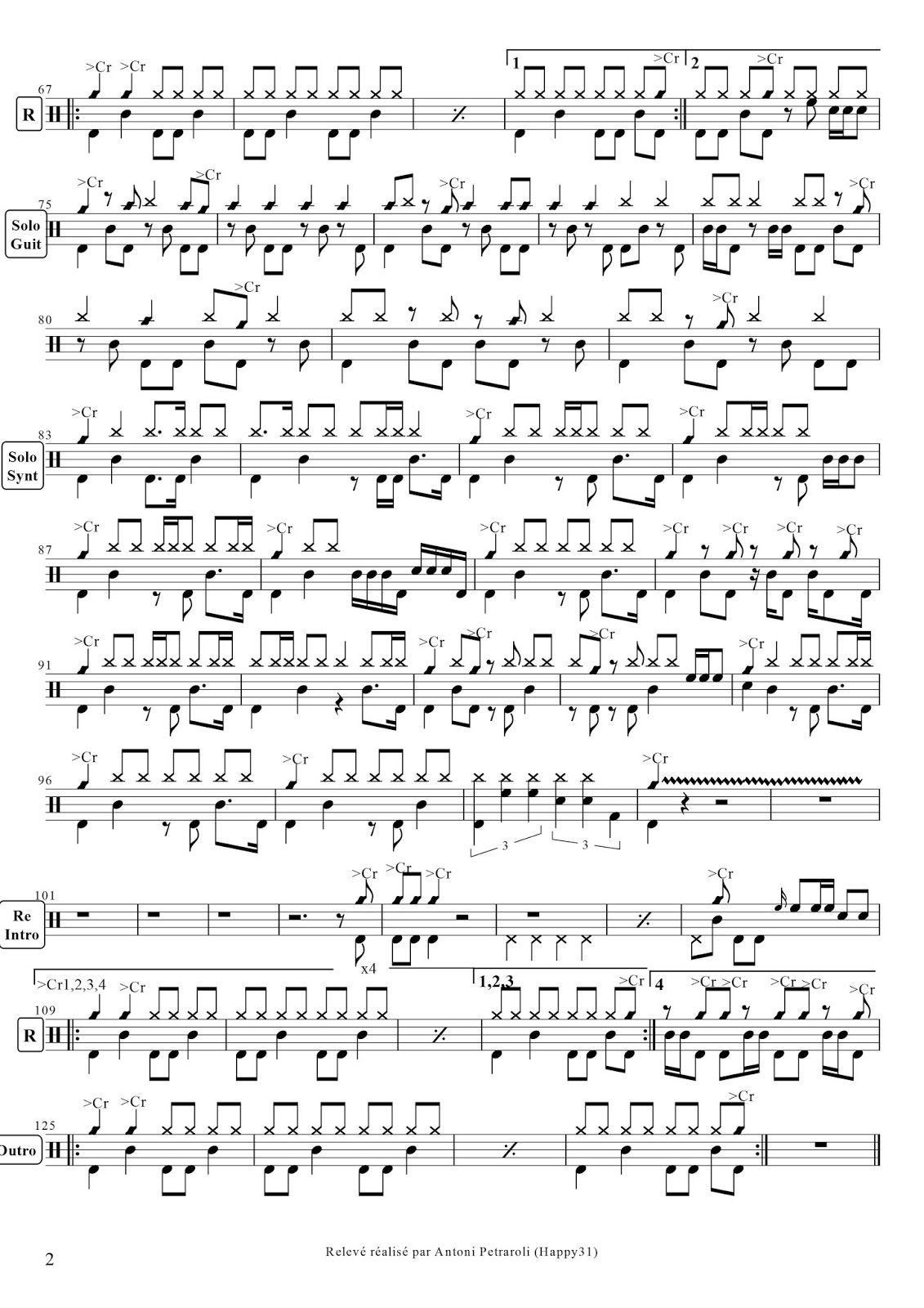 Van Halen Jump 2 Jpg 1131 1600 Drum Sheet Music Drums Sheet Drum Notes