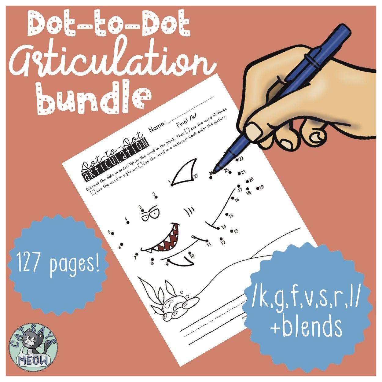 Articulation Homework Dot To Dot Bundle K G F V S L R