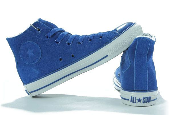 9f4d9280ca0c Converse All star Shearling Blue Suede Leather High Top Shoes  RS120305  -   60.00   New Converse American and british Flag and converse plat.