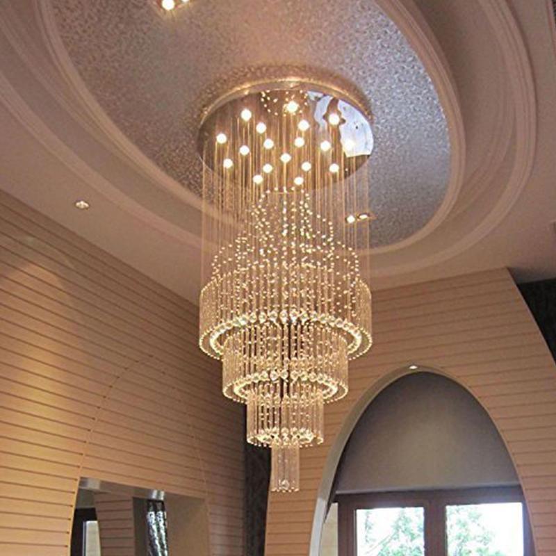 Floating Castle Raindrop Crystal Chandelier Double Layer Crystal Ceiling Light Ceiling Lights Chandelier Lighting