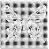 Free Filet Crochet Patterns You'll Enjoy Using: Ceylon Rose Butterfly Chart