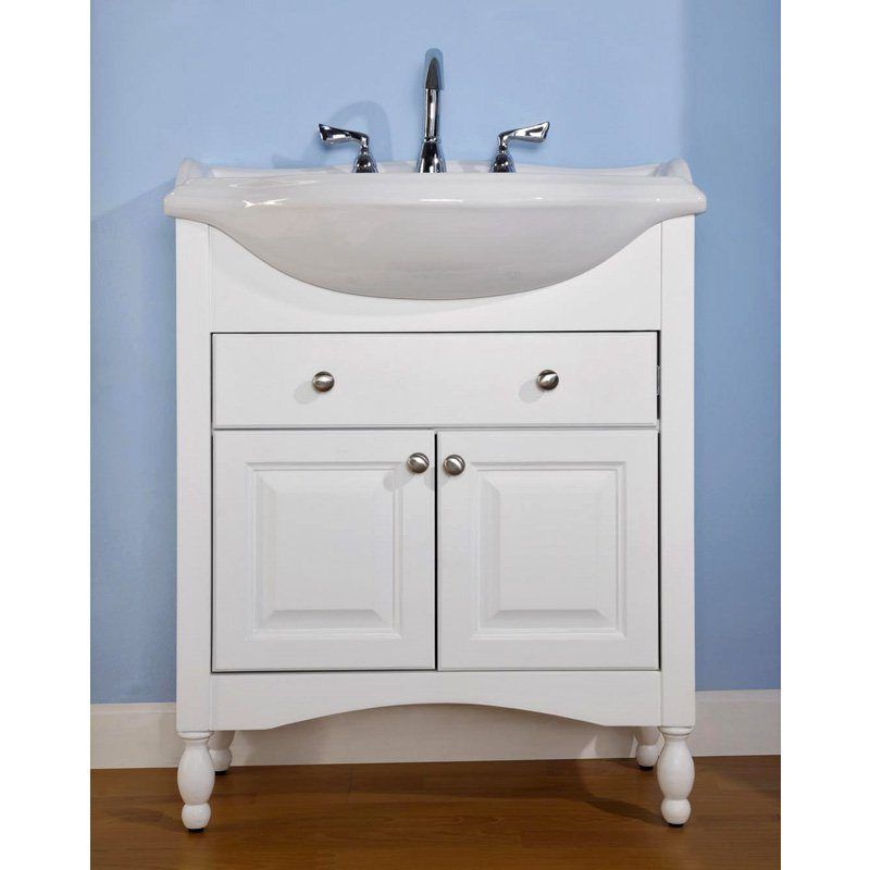 Narrow Depth Bathroom Vanities Maximizing Small Space Narrow