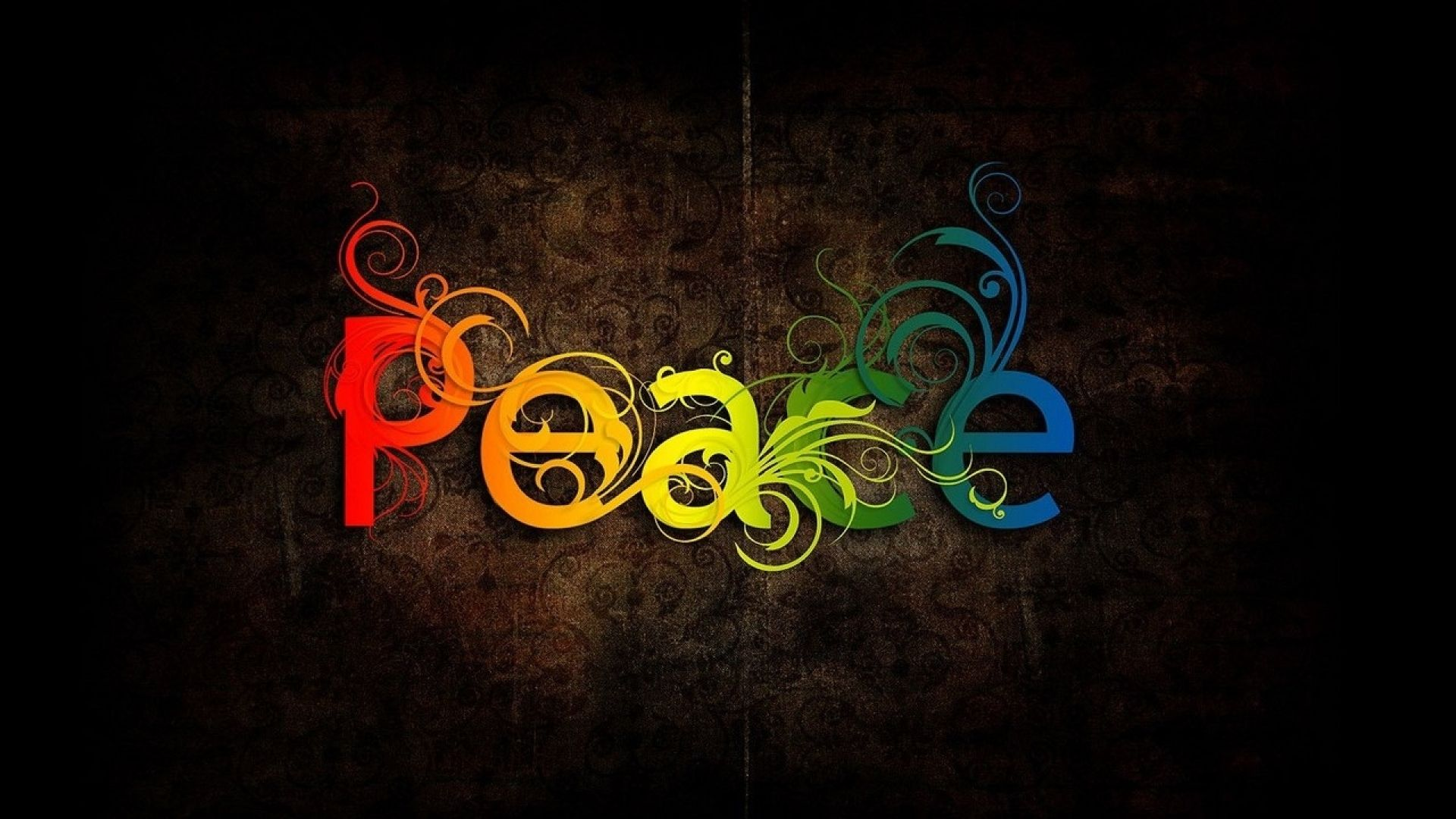 Colorful Peace Wallpaper Wide Rainbow peace, Best
