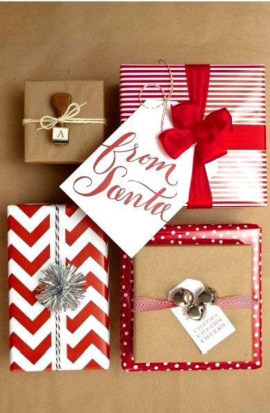 Christmas #gift #wrapping ideas from #Santa #DIY #crafts ToniK