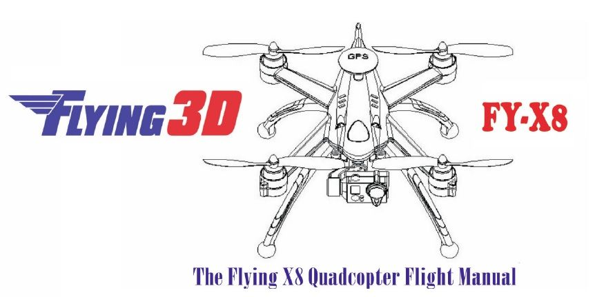 Download Flying 3D X8 User manual | Quadcopter | Manual