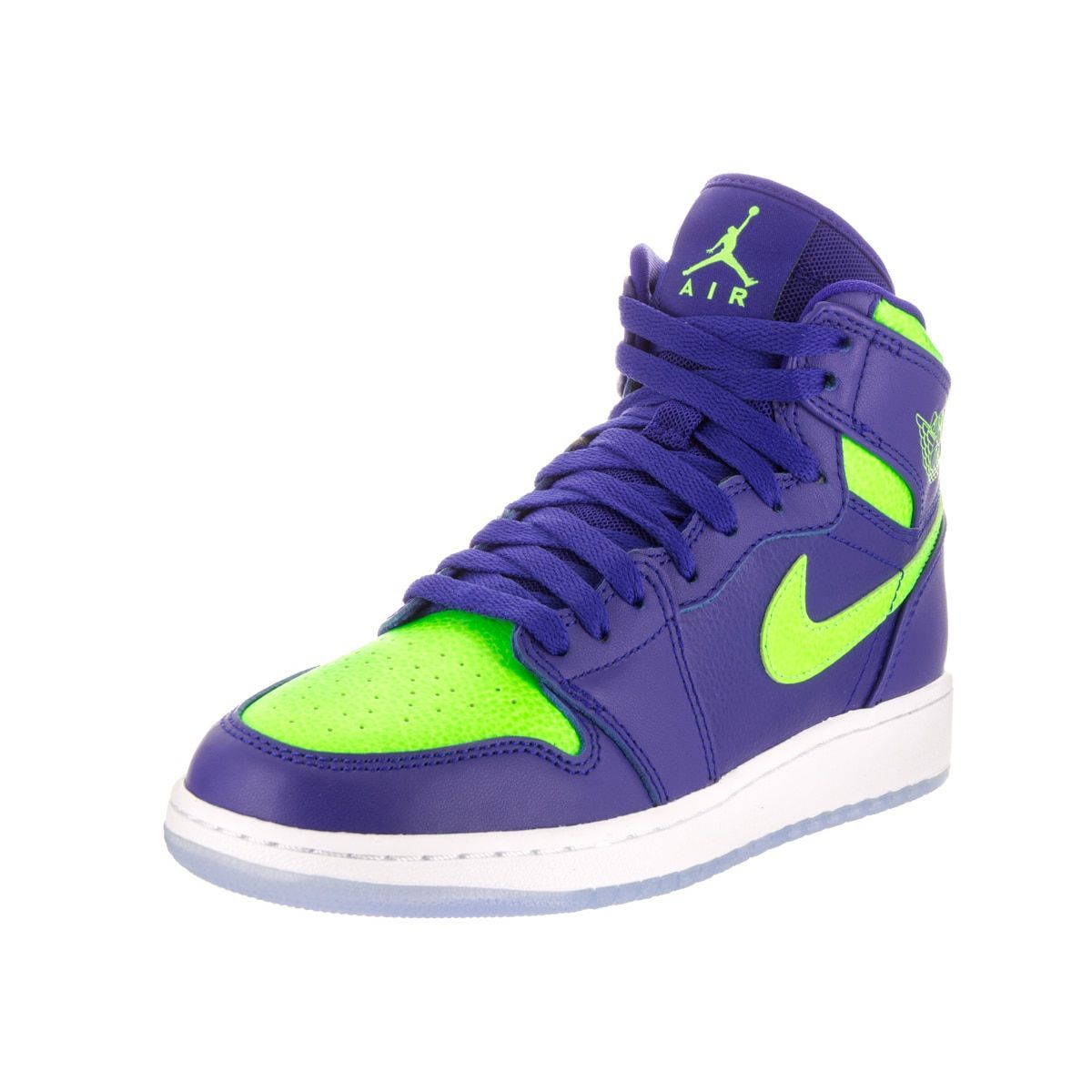 new style 3adb8 70cfe Nike Jordan Kids Air Jordan 1 Retro Blue and Green High-top ...