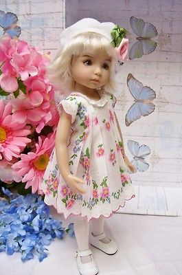 Effner-13-Little-Darling-Spring-Flower-Scalloped-Hanky-Dress-and-Hat. Sold for $44.90 on 3/23/14.