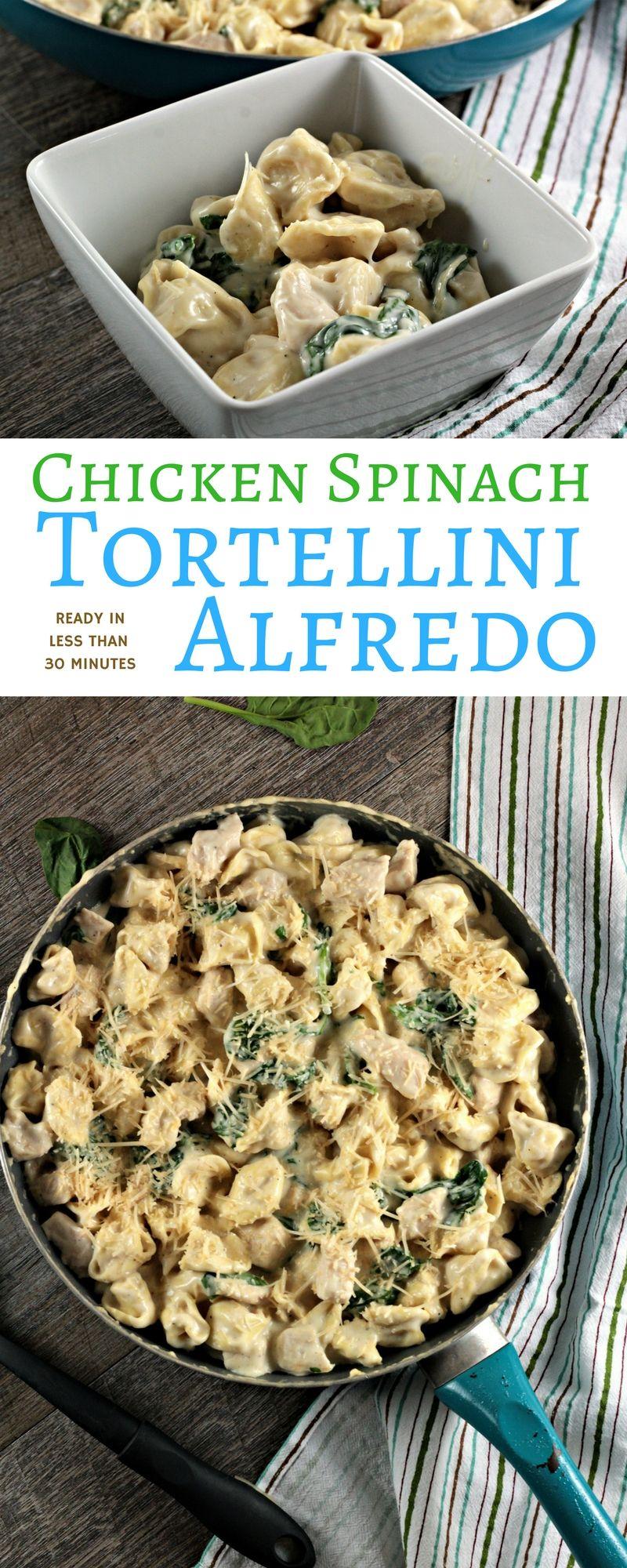 Chicken spinach tortellini alfredo recipe spinach