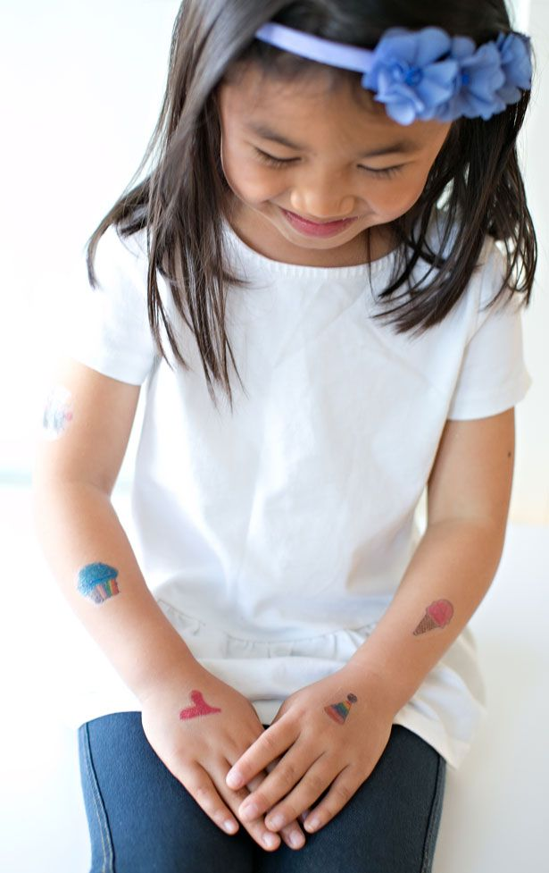 Photo of MAKE TEMPORARY TATTOOS OUT OF KIDS' ART
