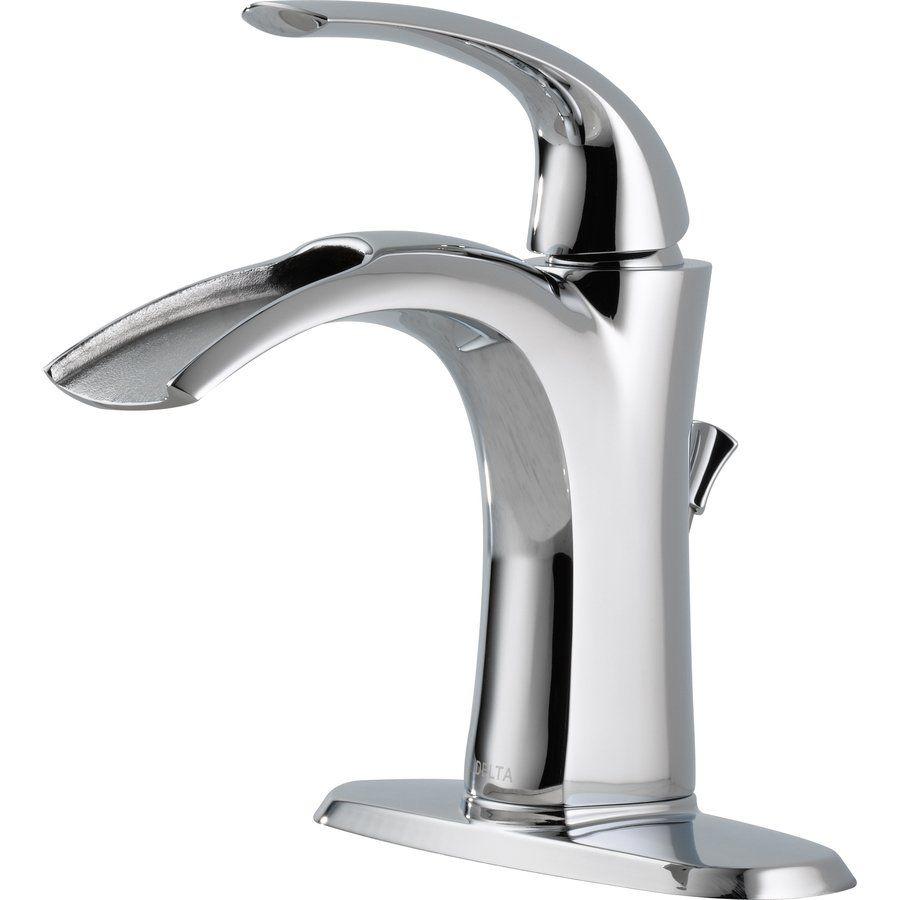 My bathroom faucet...Delta 15708LF Nyla Open Channel Single Handle ...