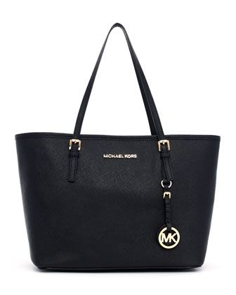 Small Jet Set Saffiano Travel Tote by MICHAEL Michael Kors at Neiman Marcus.