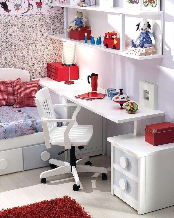 Ideas de escritorios juveniles baratos 2016 en blanco - Dormitorios infantiles blancos ...