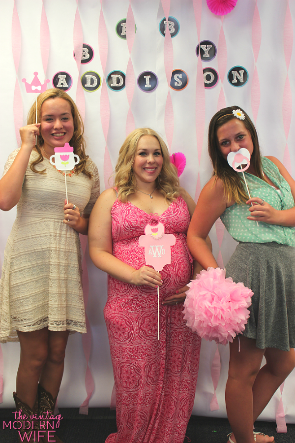 A Photo Booth For A Baby Shower Is A Great Baby Shower Idea! Print Out