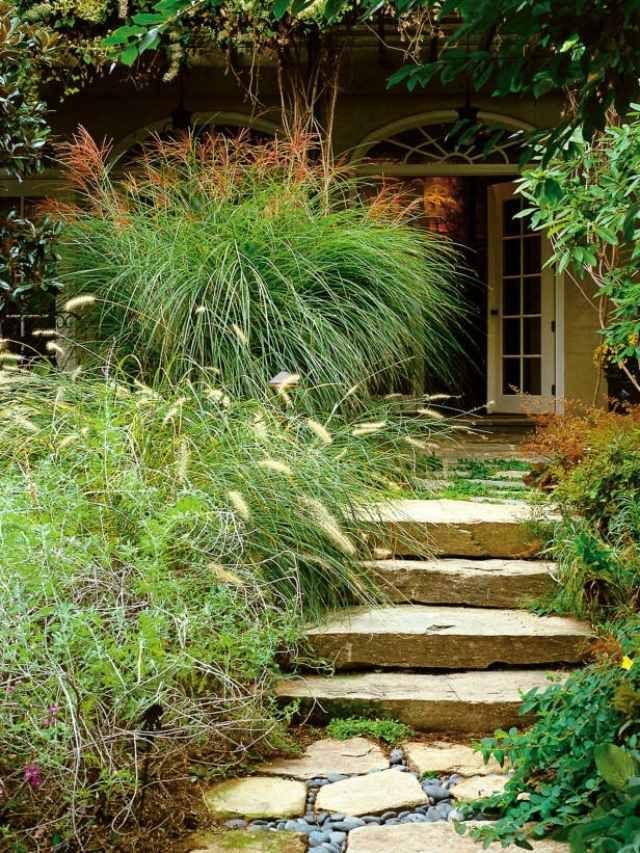 gartenweg treppenweg verlegen sandstein landschaftsbau gestaltung pinterest sandstein. Black Bedroom Furniture Sets. Home Design Ideas
