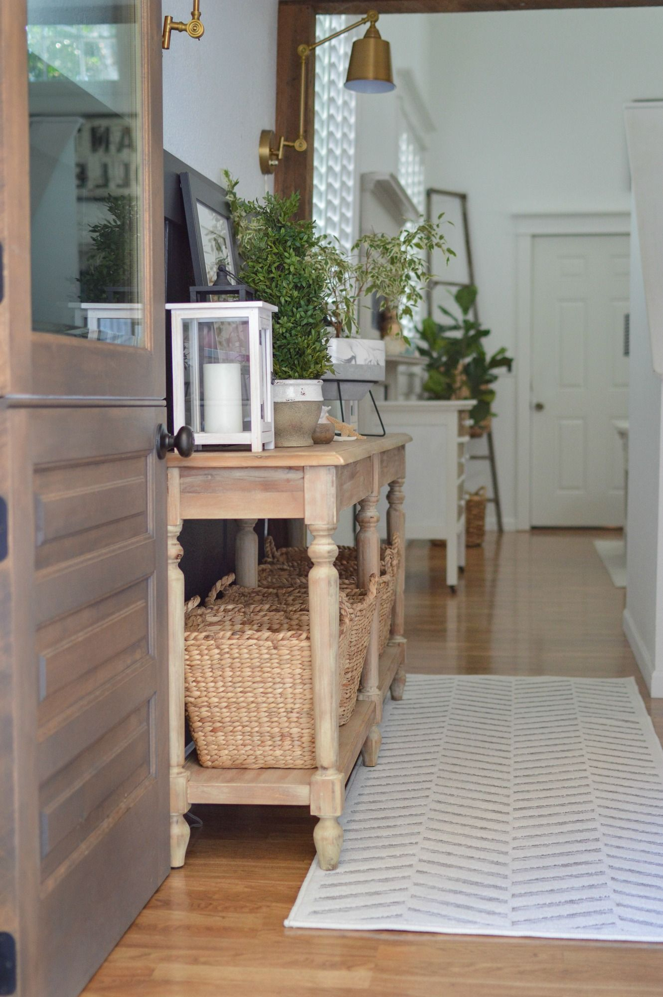 DIY Budget Board And Batten - Modern Cottage Entryway Makeover at Fox Hollow Cottage