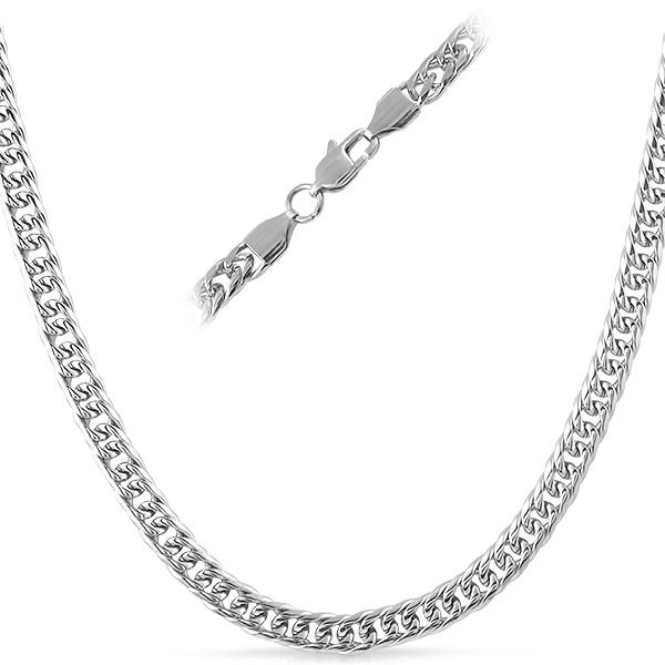 Stainless Steel Double Cuban chain that will not fade or tarnish.  High polished for extra shine.  This necklace measures 6mm in width with many length options to choose from.  Features soldered end caps with a lobster claw clasp.  Get this fabulous necklace today and don't forget to order a matching bracelet.