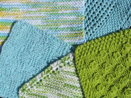 Floralshowers | 5 Awesome Knitted Dishcloth Patterns | FloralShowers Craft Blog