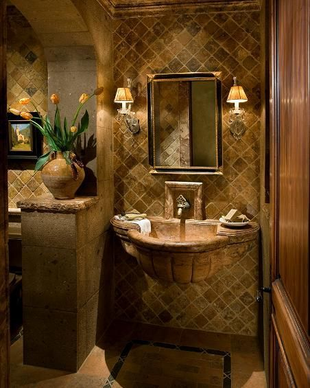 Tuscan bathroom decor images