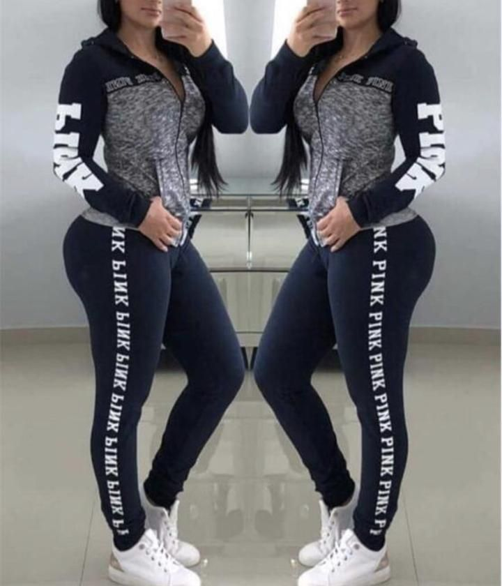 Lettered Sweatsuit Sporty outfits, Outfits with leggings