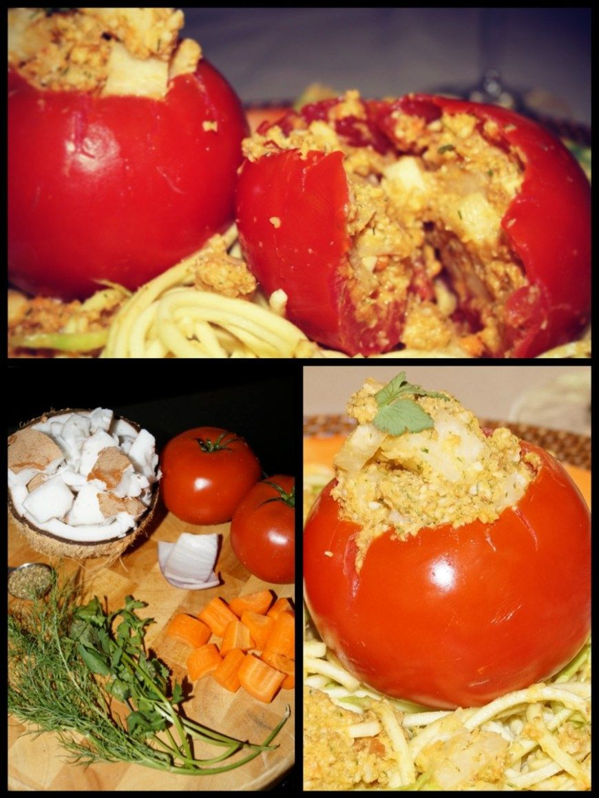 Filled tomatoes with indian spice coconut pt vegan recipes raw vegan tomatoes stuffed with spiced coconut pate recipe forumfinder Images