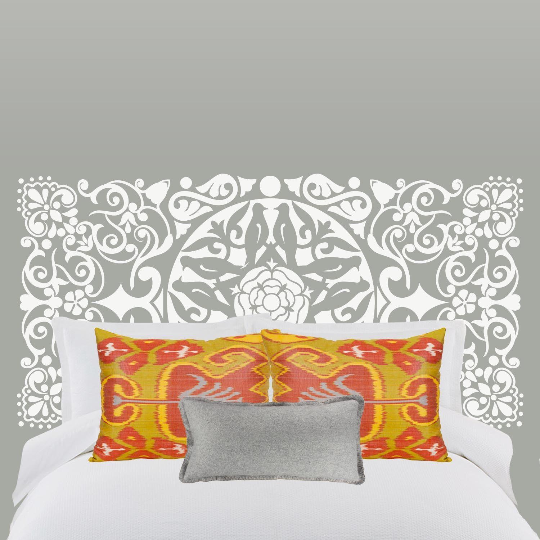 Vinilo cabezal de cama oriental ideas decoraci n for Vinilo para cabezal dormitorio