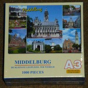 Middelburg, de kleinste legpuzzel ter wereld - 1000 Stukjes   Op voorraad € 7,95