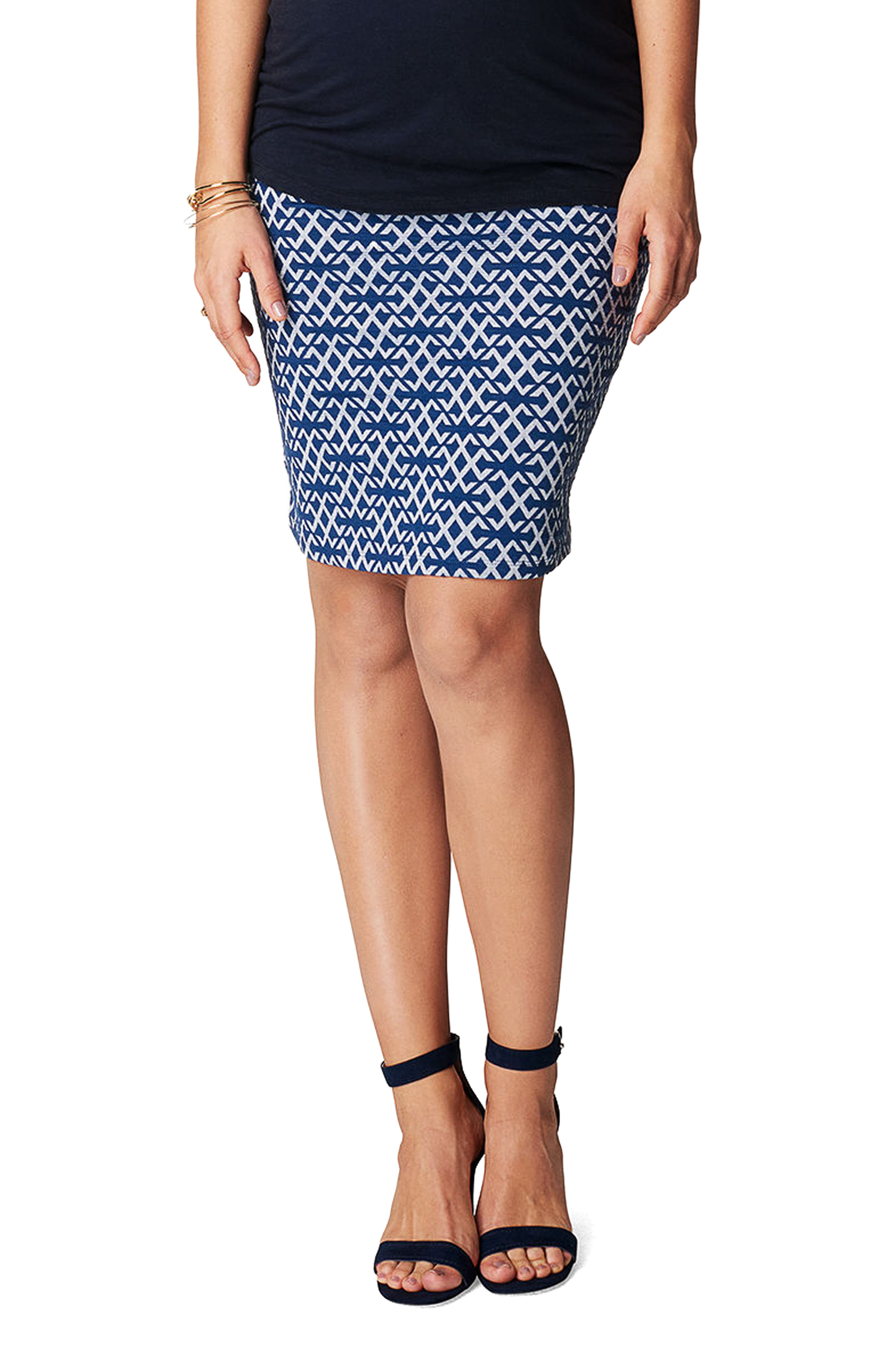 845c84972eccf Women's Noppies Luna Over The Belly Maternity Skirt, Size XX-Large - Blue