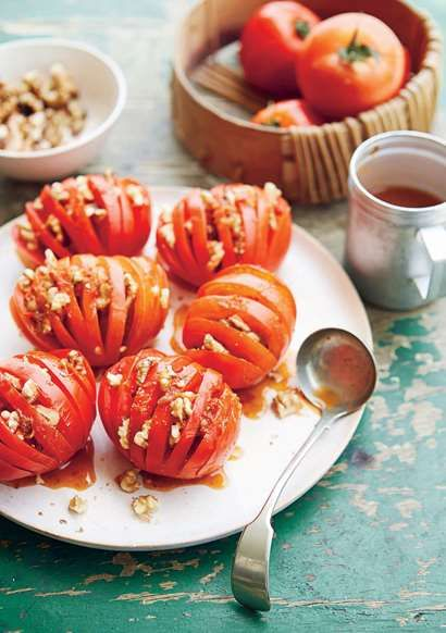 Tomato walnut salad recipe from Cairo Kitchen by Suzanne Zeidy | Cooked