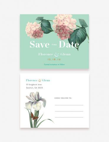 Announce your wedding with our printable save the date card! www.inatondesign.com