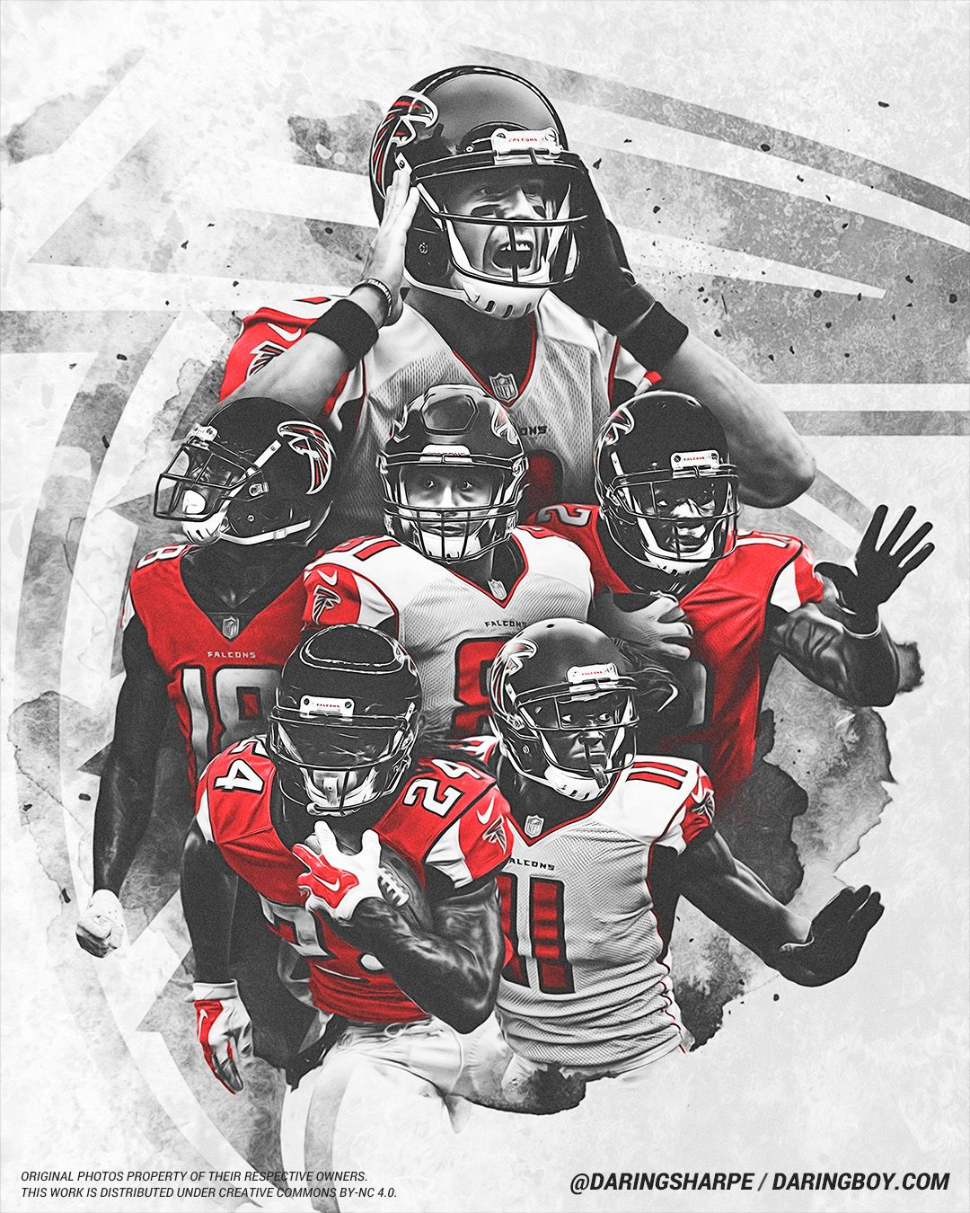 Devonta Freeman Julio Jones Calvin Ridley Austin Hooper Mohamed Sanu Sr Matt Ryan Atl Atlanta Falcons Atlanta Falcons Football Atlanta Falcons Wallpaper