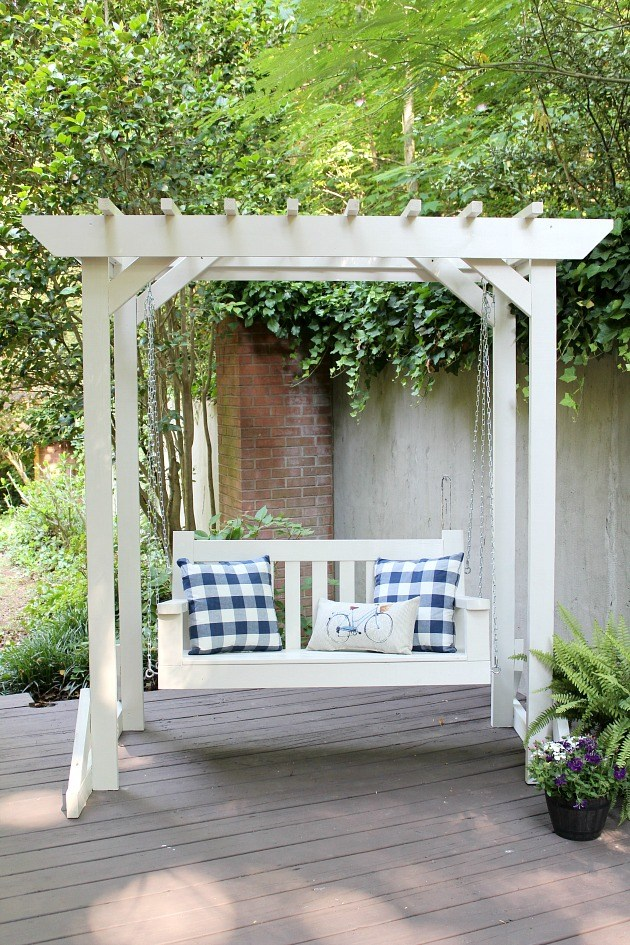 56 diy porch swing plans free blueprints aparatos hamacas y patios weve collected a list of some of the best diy porch swing plans that solutioingenieria Gallery